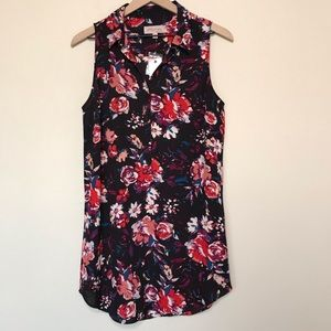 Philosophy Floral Collared Popover Dress/Tunic NWT